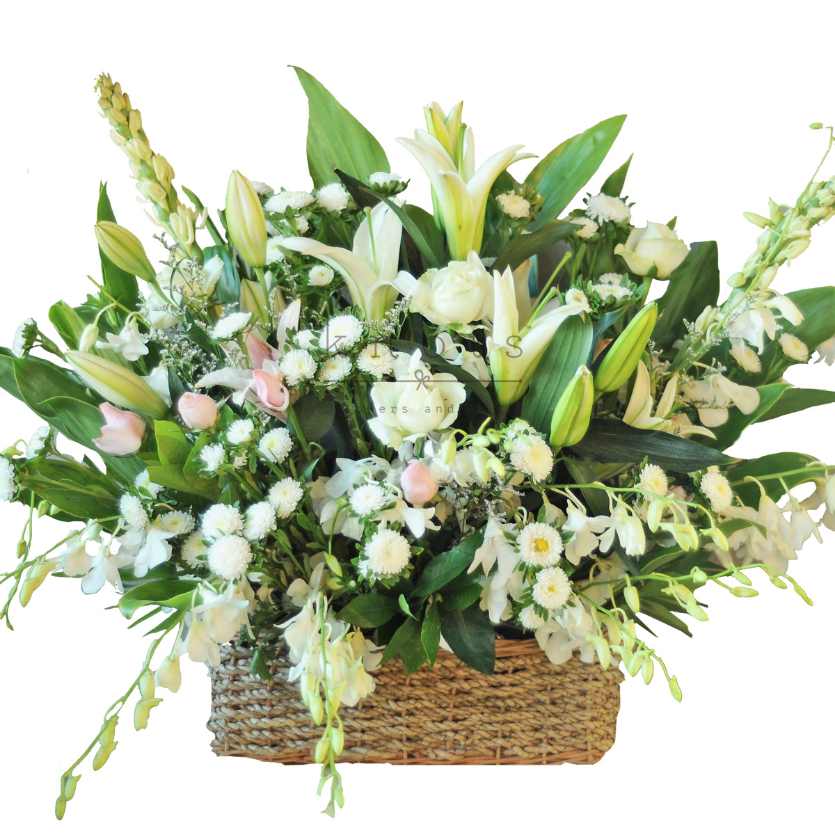 Sympathy Flower Basket Arrangement