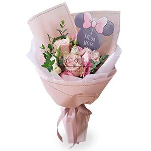 Daring Bold (Pink Ecuadorian Roses Bouquet)