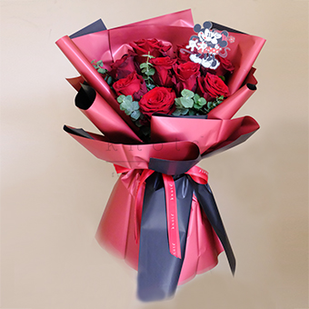 You've Got the Mickey to My Heart ( Red Ecuadorian Roses Bouquet)
