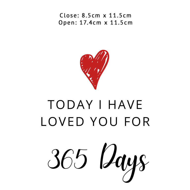 I Have Loved You for 365 Days