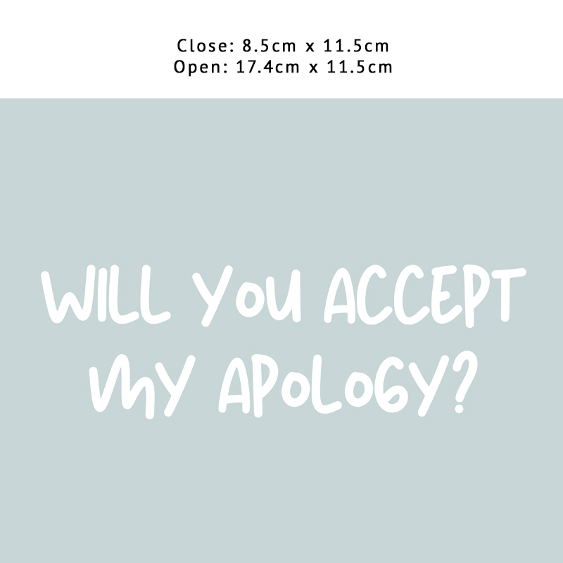 Accept My Apology