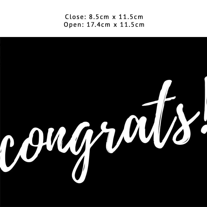 Congrats! (Black)