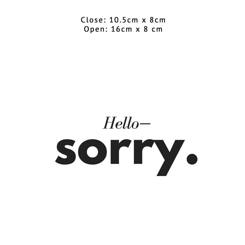 Hello I'm Sorry