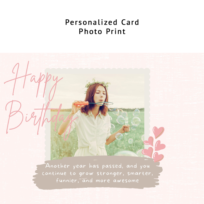 Birthday Pink (Personalized Card)