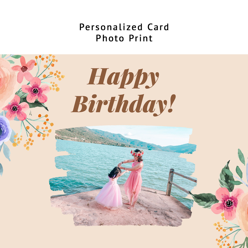 Birthday Flora (Personalized Card)