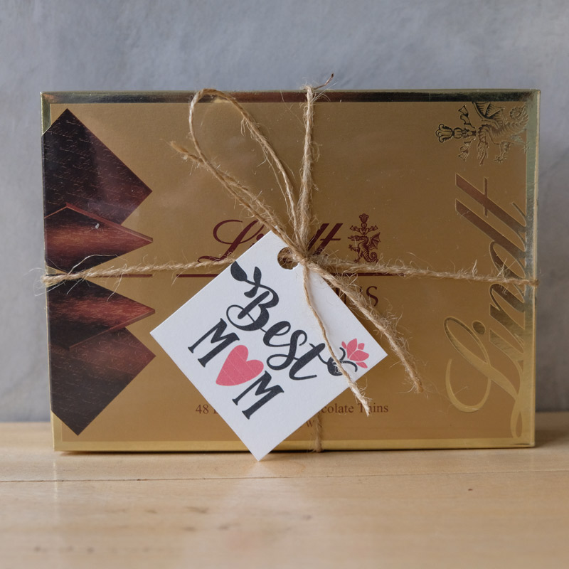 Lindt Swiss Think Dark Chocolate w/ Mother's Day Tag