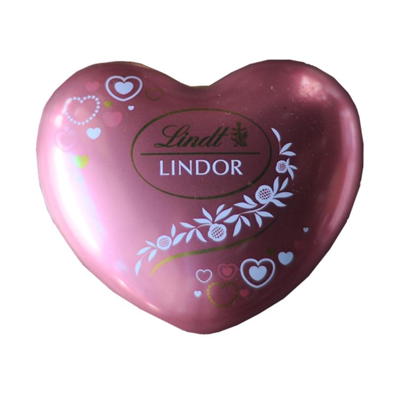 Pink Lindt Lindor Heart 37gm