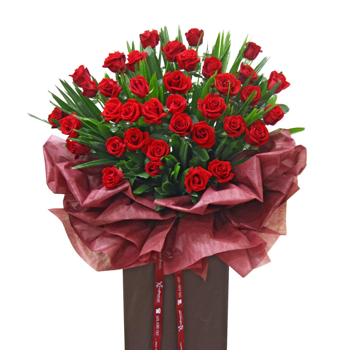 CS1434 red roses congratulatory flower stand