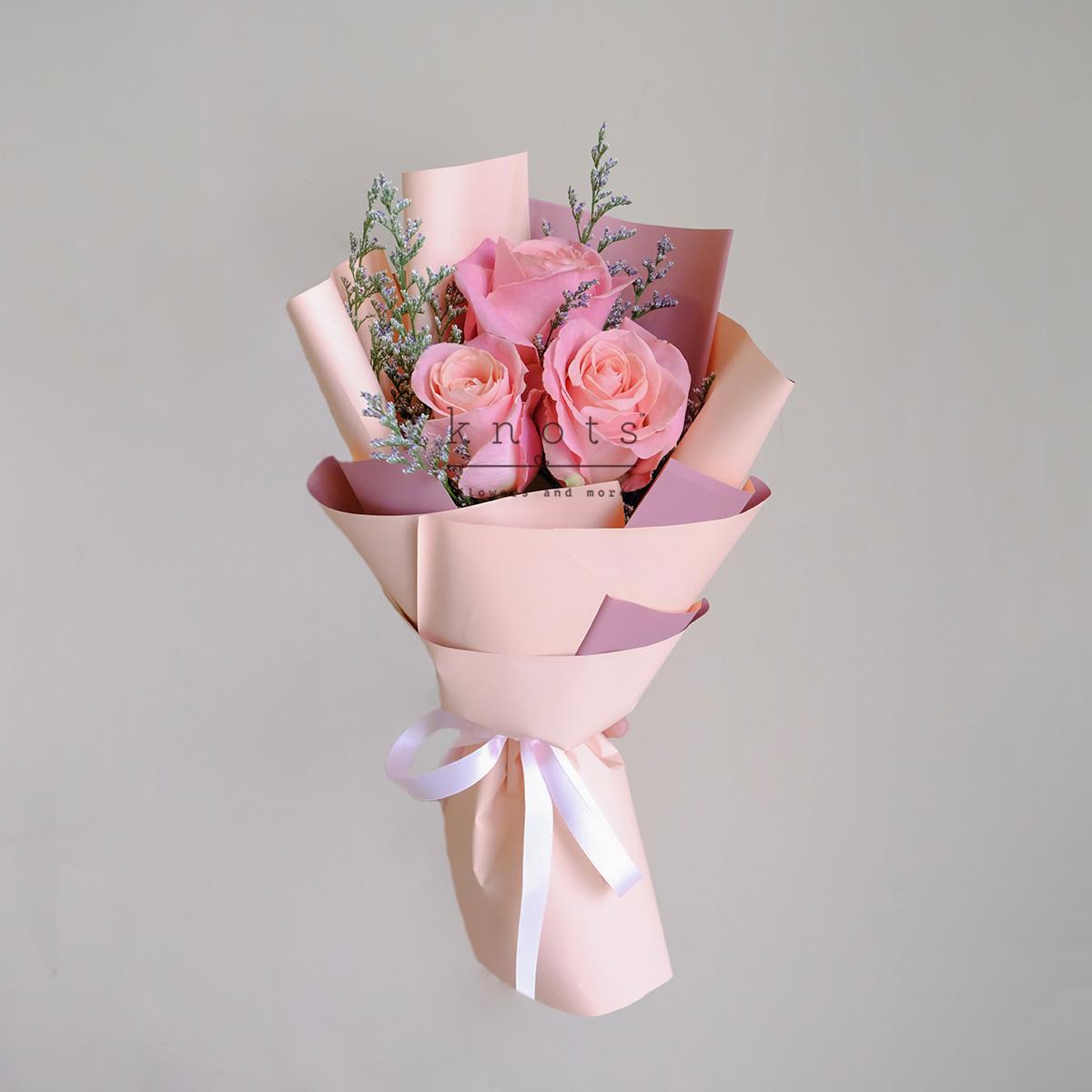 Reticent Demure (Pink Ecuadorian Roses Bouquet)
