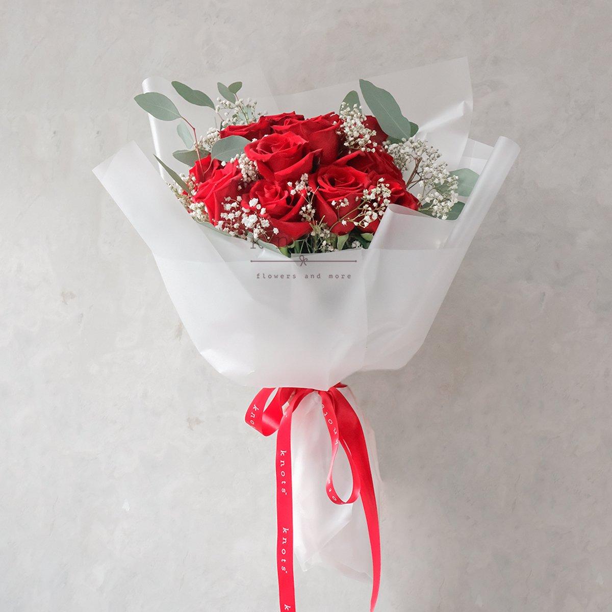 Messenger of Love (Red Ecuadorian Roses Bouquet)