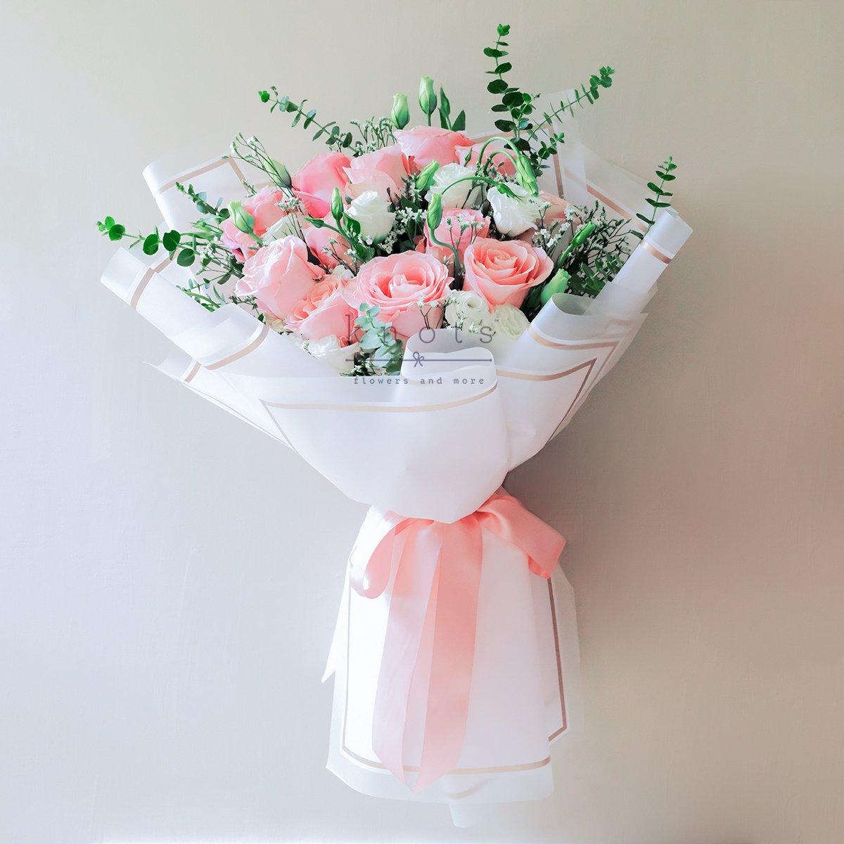 Lover Of My Dreams (Pink Ecuadorian Roses Bouquet)