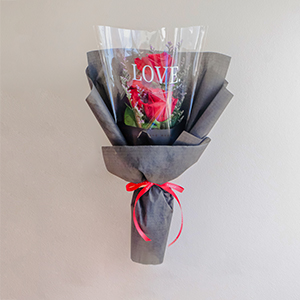 All Out of Love (Red Ecuadorian Roses Bouquet)
