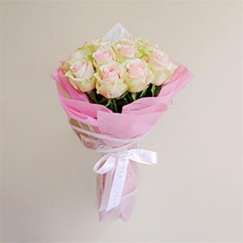 Fallen By Your Charms (Pink Roses Bouquet)