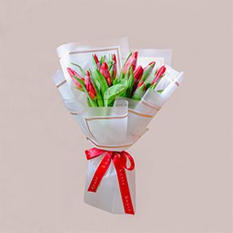 We Found Love (Red Tulips Bouquet)