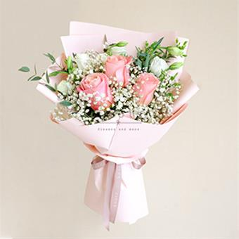 Evocative Antidote (Pink Ecuadorian Roses Bouquet)
