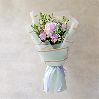 Sweetest Happiness (Rainbow Rose Bouquet)