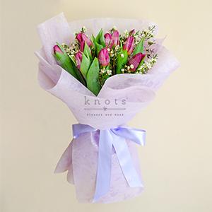I Honestly Love You (Pinkish-Purple Tulips Bouquet)