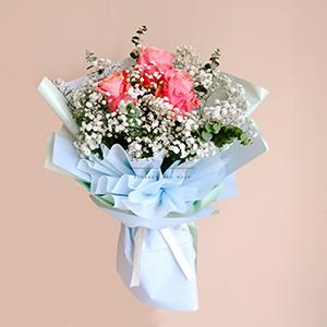 Pure Charm (Pink Ecuadorian Roses Bouquet)