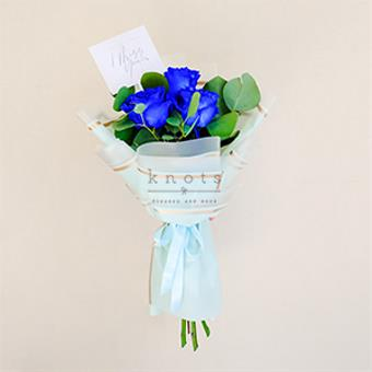 Sincere Emotion (Blue Ecuadorian Roses Bouquet)