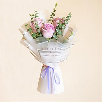 Hazed Affection (Purple Ecuadorian Roses Bouquet)