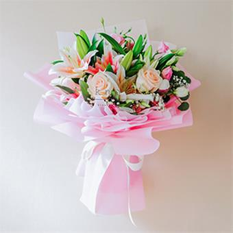 Connection of Love (Roses & Lilies Bouquet)