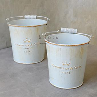 Romantique Metal Pail with Handle