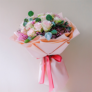 Love's Essence (Pink Ecuadorian Roses Bouquet)