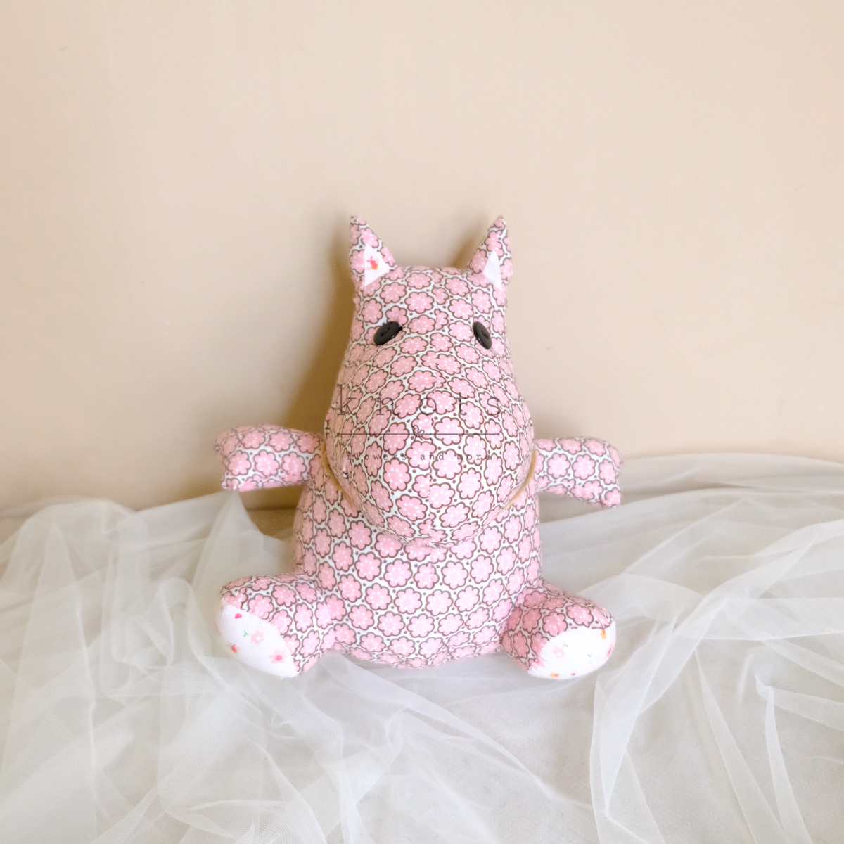 Bea Hippo 8inch Pink