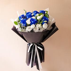 Waiting For Us (Blue Ecuadorian Roses Bouquet)