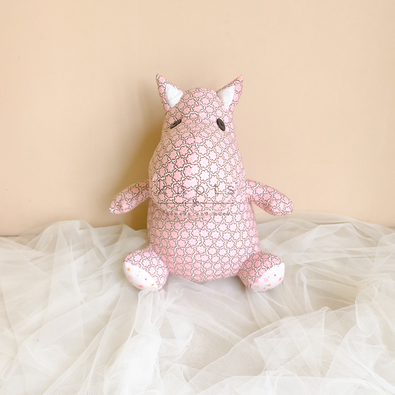 Bea Hippo 11inch Pink