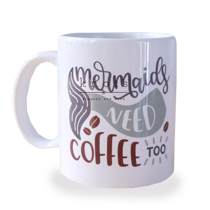 Mermaid Need Coffee Too