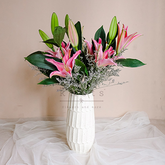 Ravishing Passion (Pink Lily Arrangement)