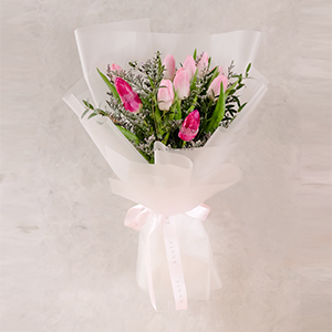 Ripple of Sweets (Pink Tulips Bouquet)