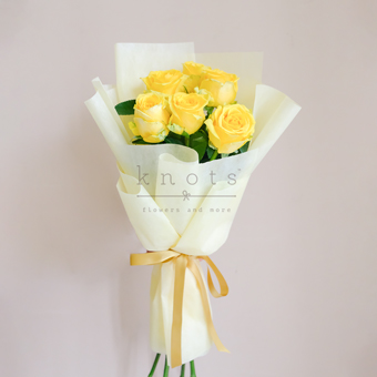 Brightly Blooming (Yellow China Roses)
