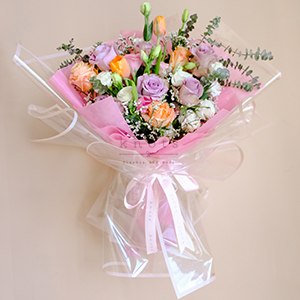 Sweet Girl (Roses and Tulips Bouquet)