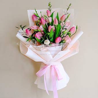 Aurora (Purple Tulips Bouquet)