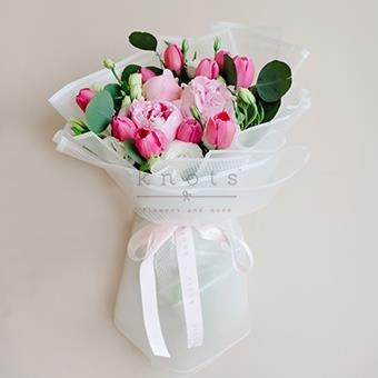 My Darling, You (Peonies and Tulips Bouquet)