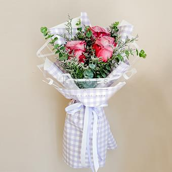 Precious Love (Purple Rose Bouquet)