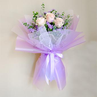 Cupid In Love (Light Pink Ecuadorian Rose Bouquet)