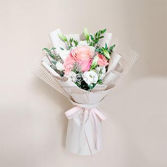 Pinky Sweet Swear (Pink Ecuadorian Rose Bouquet)