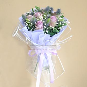 Charming Lavender (Purple-Grey  Ecuadorian Roses)