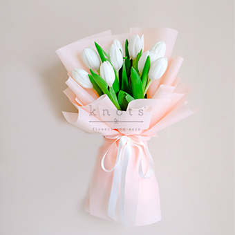 Tender Hearted (White Tulips Bouquet)