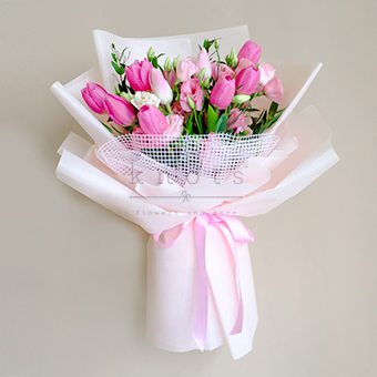 Beauty And Kisses (Tulips Bouquet)