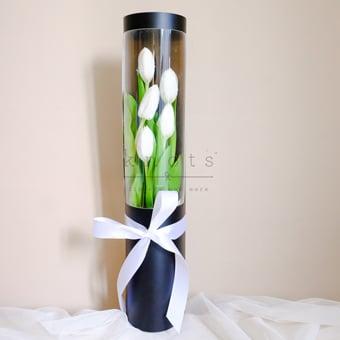 Enchanting Kisses (White Tulips)