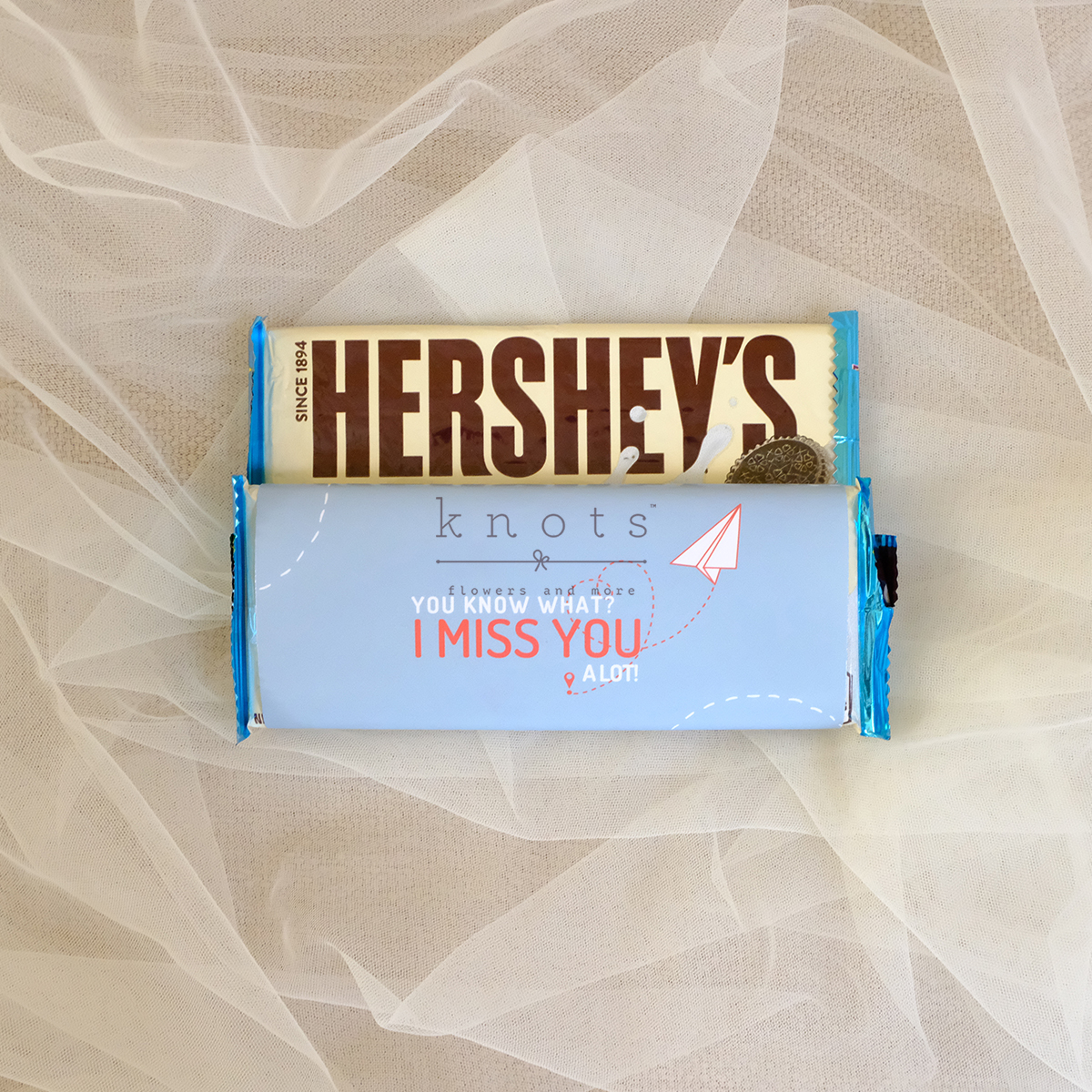 You Know What I Miss You A Lot 1pc Hershey Bar