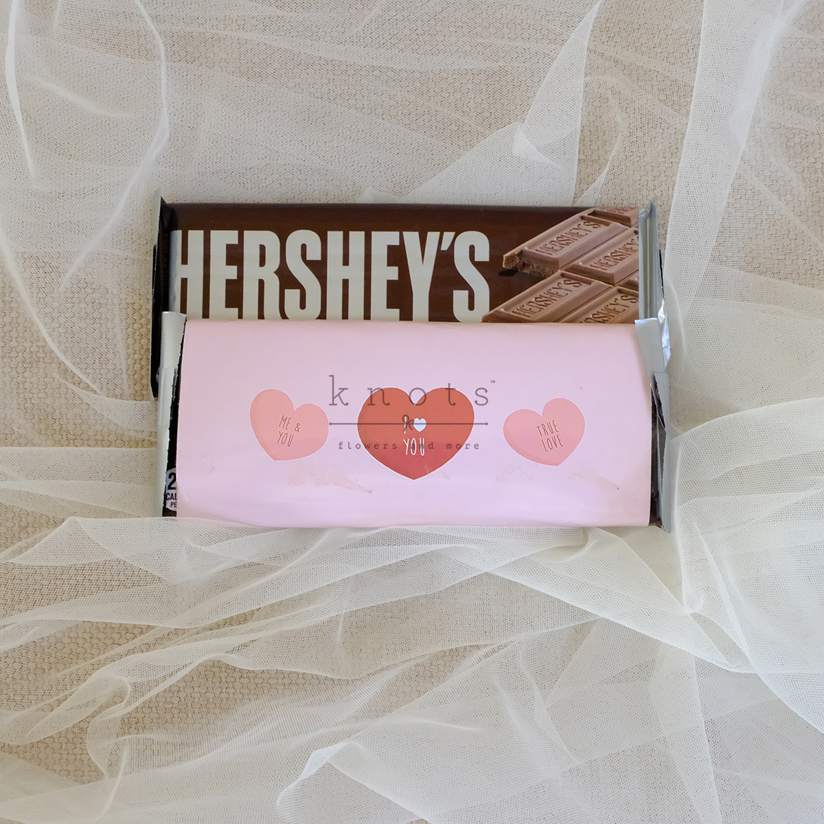 Me And You I Love You True Love 1Pc Hershey Bar