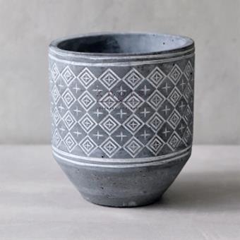Triangle Pattern Ceramic Vase