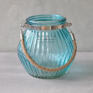 Oblong Line Vase W/ Rope Handle