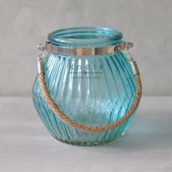 Oblong Line Vase W/ Rope Handle