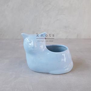 Pastel Ceramic Cat Vase